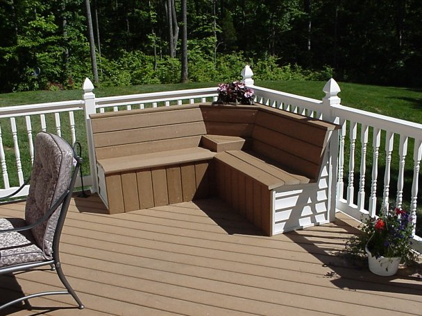 Pdf diy corner deck bench plans download corner computer desk with hutch plans woodworktips - Creative deck storage ideas integrating storage to your outdoor room ...